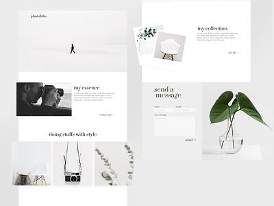 Photofolio vintage uxbly branding typography web ux ui design minimalist minimal portfolio