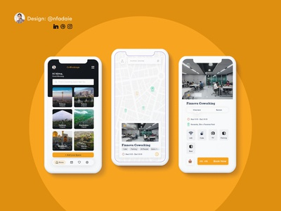 Coworking Space Booking App coworking coworking space designchallenge booking designwich uidesign appdesign