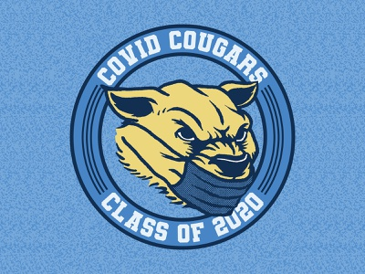 COVID Cougar Class of 2020 tshirtdesign shirt shirtdesign illustration design tshirtdesigner branding cartoon apparel graphics