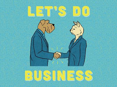 Let's Do Business tshirtdesigner tshirtdesign shirtdesign shirt illustration design cartoon branding apparel graphics