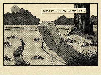 The Trap comic truegrittexturesupply halftone retro illustration