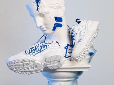 Fila x Holypop art holypopstore shoes hype kicks sneakerhead sneakers collabo holypop holy fila