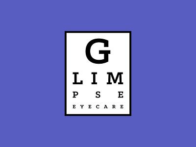 Glimpse Eyecare logo design mark brand design brand identity logos eyecheck eyecare logotype icon typography design vector logo branding