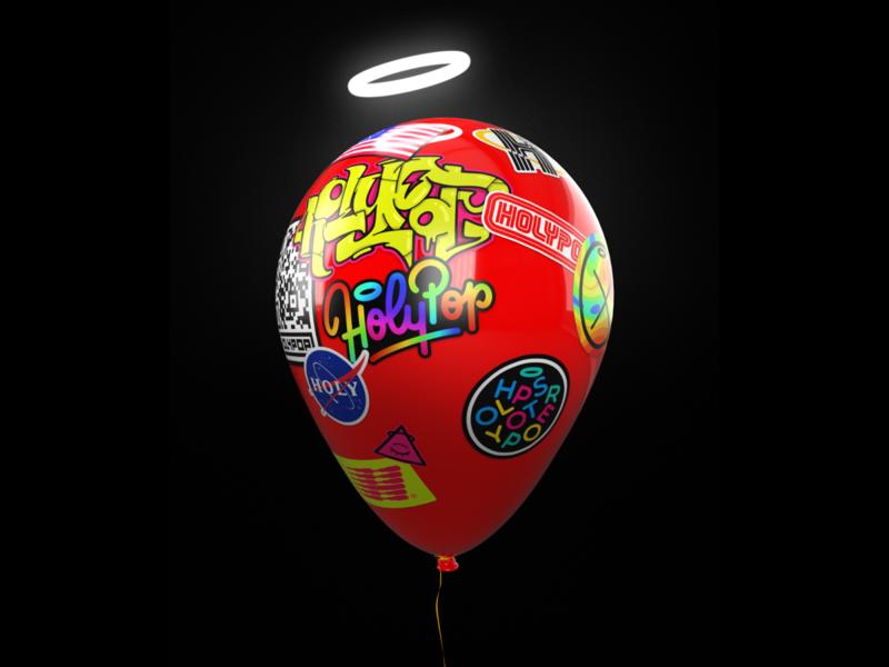 Baloon graphic design baloons red renders graphic happy birthday renderedthreads baloon rendered rendering render holypopstore holypop holy design artwork illustration art