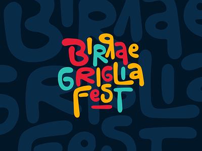 Birra e Griglia Fest 2020 typography event brand identity brand logo branding vector artwork design illustration art