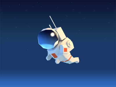 Astronaut low poly astronaut gamedev character game