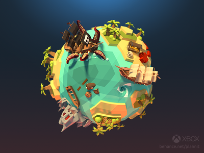 Xbox clubs image faceted low poly microsoft planet tiny world clubs xbox