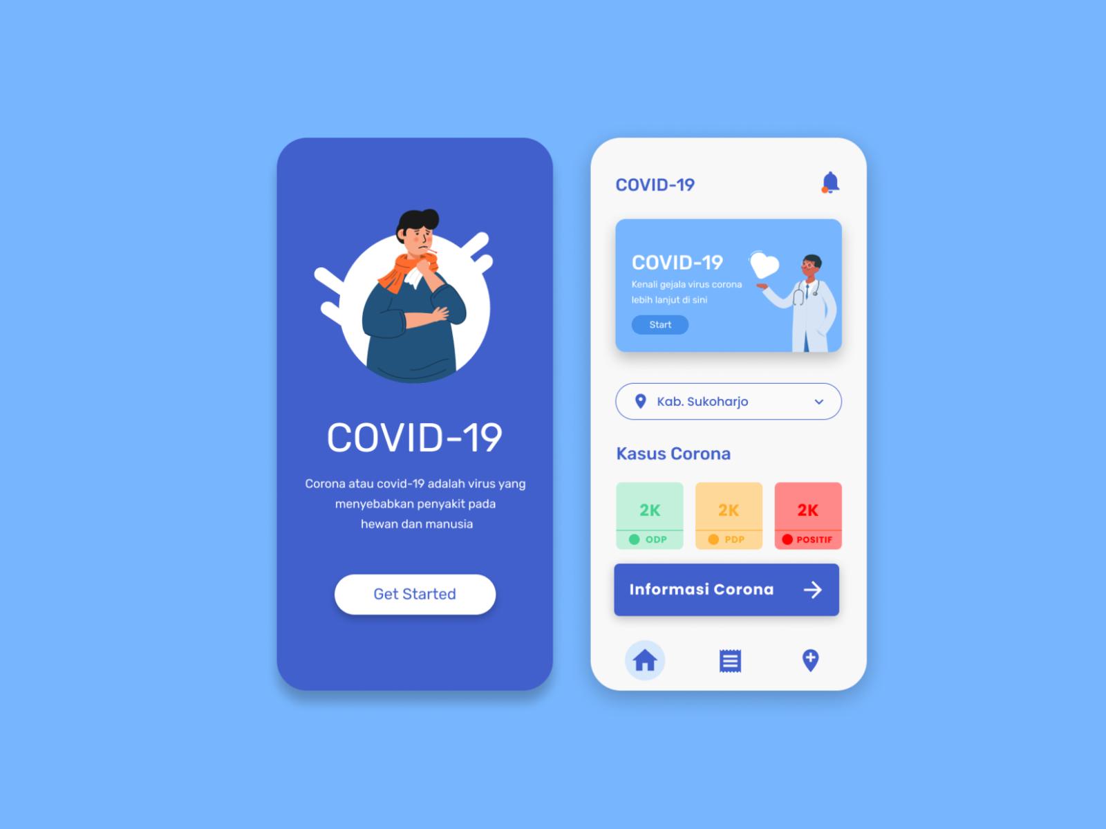App Di Design covid - 19 app design by raihan muhammad on dribbble