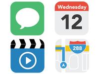 Flat iOS icons