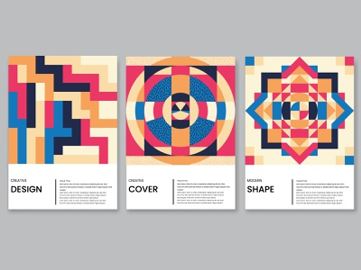 Geometric cover design collection. line trendy poster set shape cover design geometric shapes geometric design memphis arabic illustration interior shapes geometric art abstract art vector poster abstract pattern geometric print
