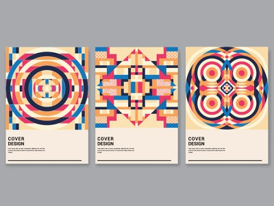 Geometric cover design collection. branded collateral geometrical catalog design trendy design arabic magazine cover shapes poster circles circular poster series branding interior shapes vector geometric art abstract art illustration geometric abstract print