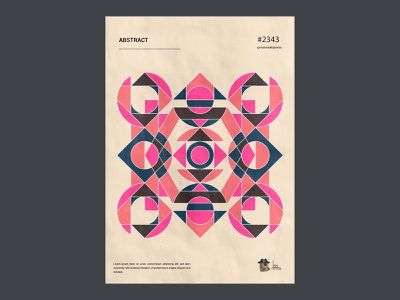Geometric poster design. form colorful modern art daily shape illustration geometry modernism design print poster art poster pattern geometric vector artwork abstract