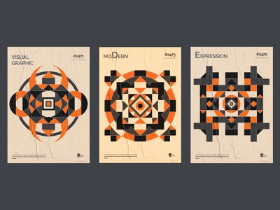 Geometric poster design collection. contemporary graphic design circle poster print shapes pattern geometric abstract