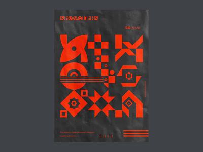Geometric poster design. geometry shapes branding brutalist brutalism bookcover poster print design vector pattern geometric abstract
