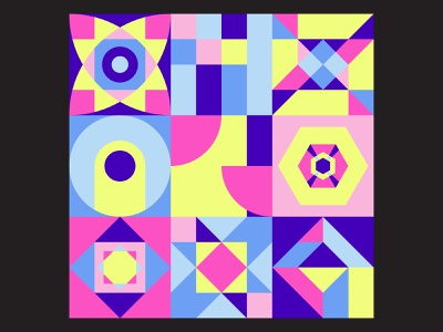 Geometric Art funky surface pattern colorful graphic design shapes design vector pattern geometric print abstract