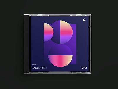VANILLA ICE gradient texture music album cover album art print unique pastel modern graphic design geometric futurism design abstract graphics