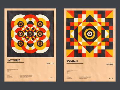 Geometric poster design. graphic design vector squares shape print poster art pattern geometric digital design circles block bright abstract