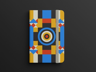 Note Book Design -01 poster geometry shapes pattern geometric modern abstract illustration bookcover creative book notebook print design editorial design