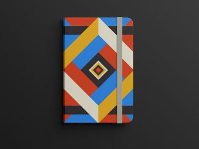 #2552 asthetic design branding editorial design notebook book creative bookcover shapes pattern geometric print