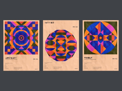 Poster design collection. creative geometric shapes circualr geometrical magazine cover trendy design vector print abstract branding illustration visual graphic visual art visual geometric design graphic design poster collection poster