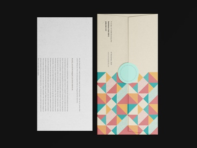 Corporate Envelop Design. digital pattern design branding shape retro retro design visual graphic print stationary memphis surface pattern pattern geometric envelop