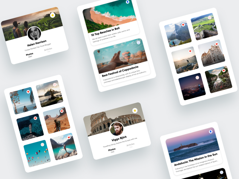 Favorites/044 cards blogger blog travel likes saved favorite favorites dailyui daily 100 challenge uidesign dailyuichallenge 044