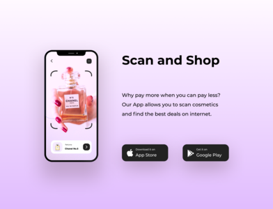 Download App/074 dailyui 074 74 074 scanning scan cosmetics google play store appstore download download app