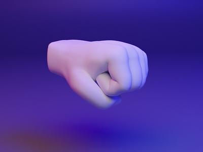 🤜 3D Hand Emoji - Right-Facing Fist fist hand fingers emoji dear3d blender socialmedia cyber illustration design brand b3d 3d