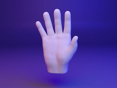 🖐️ 3D design Emoji - Hand-Fingers-Splayed webgl web splayed emoji fingers dear3d media socialmedia cyber illustration design 3d
