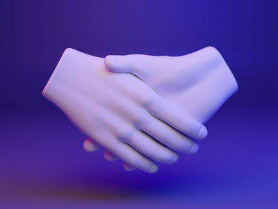 🤝 3D design web emoji - Handshake webgl web hand emoji fingers dear3d socialmedia cyber brand illustration design 3d