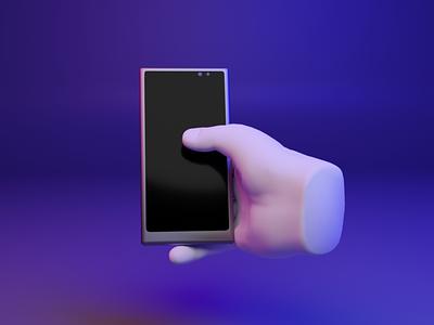 🤳 3D design web emoji - Mobile Phone / Selfie emoji selfie mobilephone webgl web ux ui fingers dear3d b3d design 3d