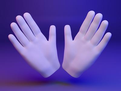 👐 3D design web emoji - Open Hands open empji fingers gesture hand ux ui dear3d b3d design 3d