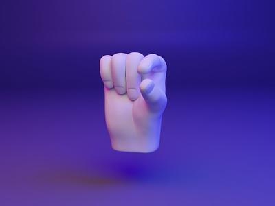 🤏 3D Hand Emoji - Pinching webgl web pinching emoji fingers hand gesture ux ui design 3d
