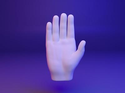 ✋3D Hand Emoji - Raised Hand web webgl raised emoji fingers gesture hand ux ui design 3d