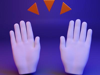 🙌 3D design web emoji - Raising Hands raising webgl web fingers hand gesture ux ui design 3d