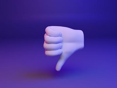 👎 3D design web emoji - Thumbs Down thumb threejs webgl gesture hand ux ui media illustration design 3d