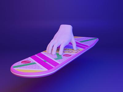 🛹 Bonus - 3D web design - 90s 80s threejs webgl hoverboard backtothefuture thing addams gesture hand ux ui media cyber design 3d