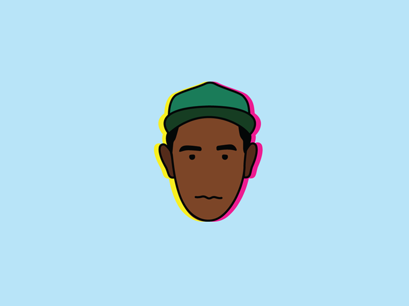 Tyler the Creator Icon hip-hop heads series minimal icon rapper wolf gang golf wang flog naw odd future tyler the creator