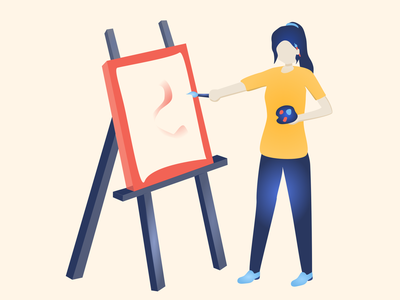 Everyday Joys #6 painting girl illustration flat illustration flatdesign vectorart vector graphicdesign flatart illustration design art