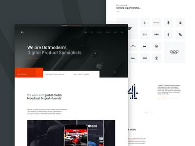 Ostmodern Website 2020 - Now live! webflow video on demand research uiux ui agency digital product design desktop