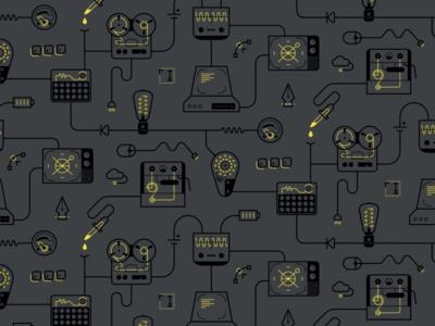 Ostmodern — Wallpaper electronics digital artwork tile tiled wallpaper