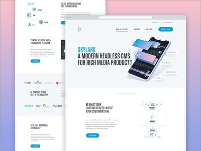 Skylark — Website layout ui design product cms headless