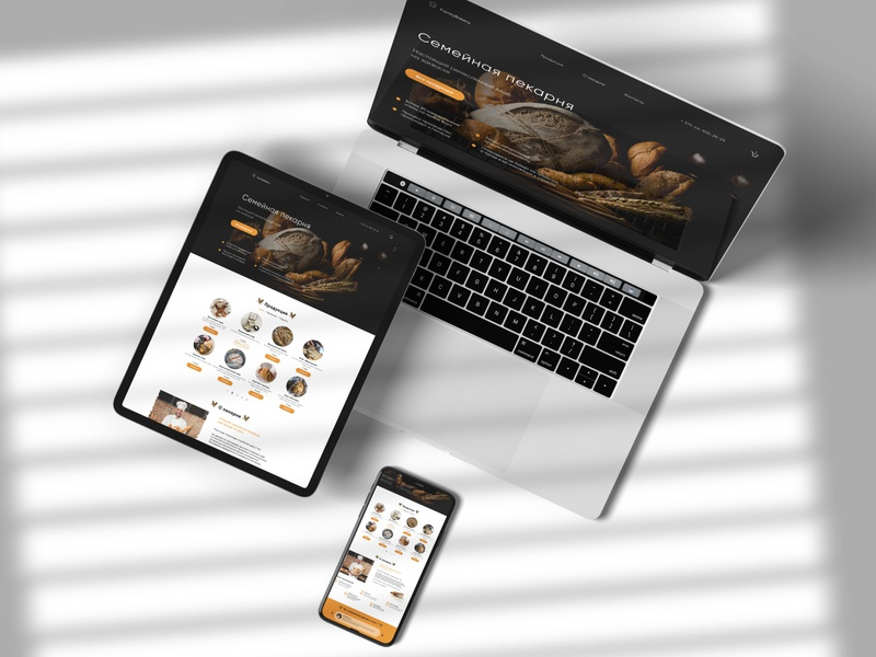 Family Bakery |  Landing page ui ux design bakery landing page landing