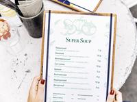 Restaurant menu design soup brochure design brochure restaurant menu design menu design