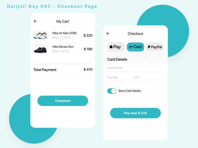 My version of DailyUI Day 2 - Credit Card Checkout 💳 credit card checkout creditcard checkout check mobile design uidesign uxui challenge dailyuichallenge dailyui 002 dailyui ui design