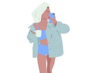 All you need is love and some coffee. vector ui girlillustration coffee girl dailyillustration art illustrator dailyuichallenge design uxui illustration