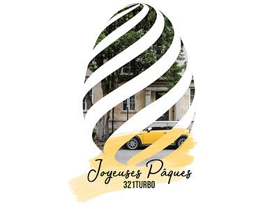 Pâques mini bmw minicooper instagrampost illustration graphicdesigner yellow auto artwork design creation graphic eggs easter autos cars