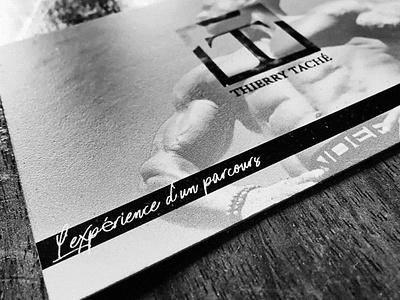 Card lifestyle coach contact visitcard grey white black blanckandwhite work creation design arts sport fitness card