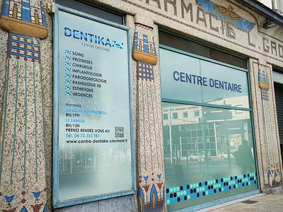 Centre dentaire paris arts france dentiste communication deventure magasin point health shopping creation store design blue bleu street shop store teeth