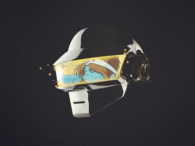 Artwork - Daft Punk Tribute imagination cover designer illustration logo artwork adobe paris creation design france